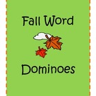 Fall Words Dominoes