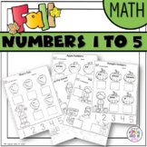 Fall Worksheets Numbers 1 to 5