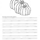 Fall Writing Assignment / Pumpkins / 1st, 2nd & 3rd Grades