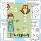 Fall Writing Worksheets {about Fall, Word Work and Reading