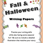 Fall and Halloween Writing Papers