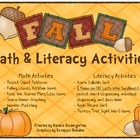 Fall and Thanksgiving Math &amp; Literacy Activities 