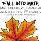 Fall into 4th Grade Math! {Games, Centers and Activities}
