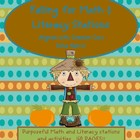 Fall into Math &amp; Literacy Stations(123 pgs!) - October fun