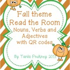 Fall theme Read the Room - Nouns, Verbs and Adjectives wit
