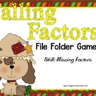 Falling Factors Math File Folder Game Common Core {3.0A.4.
