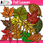 Falling Into Autumn Leaves With Glitter! - Fall Leaf Clipa
