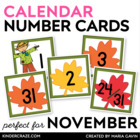 Falling Leaves Calendar Numbers