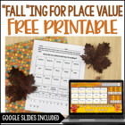 Falling for Place Value {Free Printable Activity}