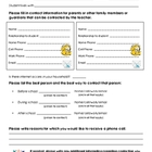 Family Contact Information Form