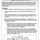 Family Culture Project Packet