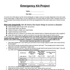 Family Emergency Kit Projcet