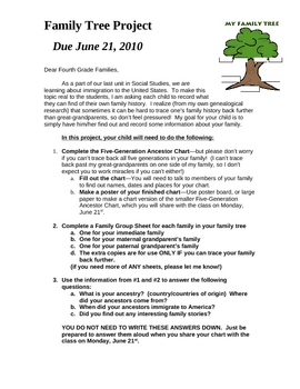 Family Tree Genealogy Project