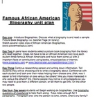 Famous African American Biography unit plan