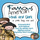 Famous American - Lewis and Clark Mini Unit {PowerPoint &