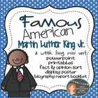 Martin Luther King Jr.: Famous American Mini Unit {PowerPo