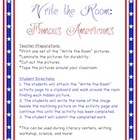 Famous Americans - Write the Room Activity