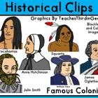 Famous Colonists Clip Art Collection-Commercial Use
