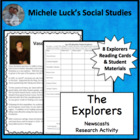 Famous Explorers of the Age of Exploration Newcasts Activity