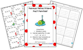 Famous Feline Friend Fun Pack (Math and Literacy Ideas)