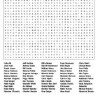 Famous People from Florida Crossword& Word Search w/KEYS