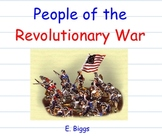 Famous People of the Revolutionary War - Smartboard Lesson