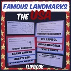 Famous USA Landmarks/Symbols Research Flipbook