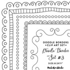 "Fancy Doodled Frames - 8.5x11"" - Commercial Use OK"