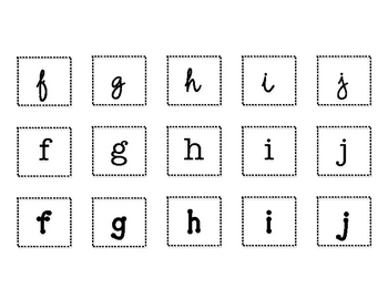 Fancy Font Letter Sort Literacy Center