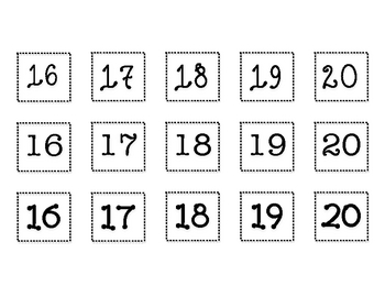 Fancy Font Number Sort Math Center
