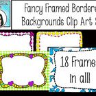 Fancy Frames Borders Clip Art Set