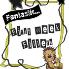 Fantastic First Week Activities