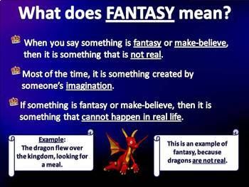 Fantasy and Realism - Guided Practice & Test Prep PowerPoint