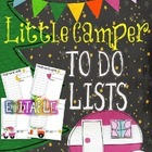 Farley's Little Camper To Do Lists *editable*you customize it*