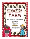 Farm ABC Letter and Number Posters and a Farm ABC Chart fo