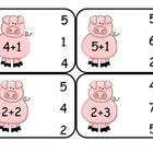 Farm  Addition Clip Card Math Center
