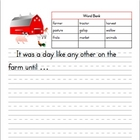 Farm Animals Books and Picture Matching Index Cards Printa