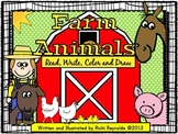 Farm Animals: Read, Write, Color and Draw