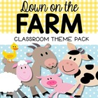 Farm Classroom Theme Decor Pack {Editable}