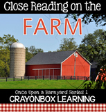 Farm Close Reading Passages, Questions, Writing Practice,