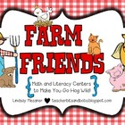 Farm Friends {Math & Literacy Centers To Make You Go Hog Wild!}