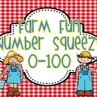 "Farm Fun Math Station  ""Number Squeeze!"" 0-100"