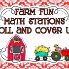 "Farm Fun Math Station ""Roll And Cover Up!"""