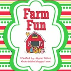 Farm Fun Math and Literacy Stations