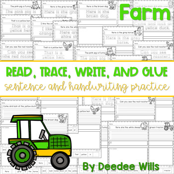 Farm Read, Trace, Glue, and Draw