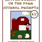 Farm Mathbooking - Math Journal Prompts (kindergarten and