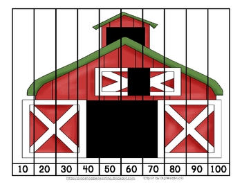 Farm Number Order and Skip Counting Puzzles