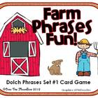 Farm Phrases Fun - Dolch Phrases Card Game