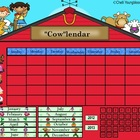 Farm Theme Calendar for the Smartboard