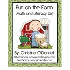 Farm Theme Math and Literacy Unit: 10 frames, I have/Who h